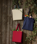 UltraClub Organic Recycled Cotton Canvas Tote with Contrast Handles